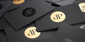 Dpv Visitenkarten Schwarz Folienpraegung Schwarz Bronze